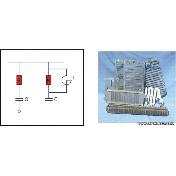 RC Filteri, harmonik filteri i strujni limiteri velikih snaga - Otporni elementi
