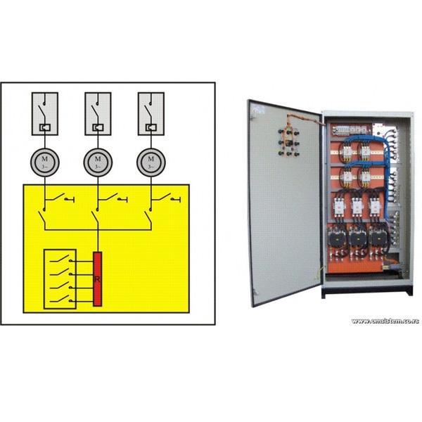 Pokretanje više asinhronih kliznoprstenastih elektromotora sa jednim pokretačem - Automatski rotorski pokretač