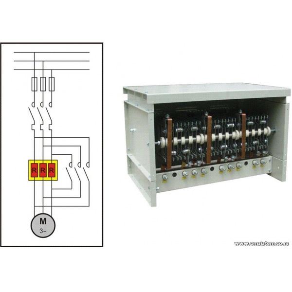 Meko pokretanje asinhronih kaveznih elektromotora sa jednofaznim statorskim predotporom - Jednofazni otpornički blok
